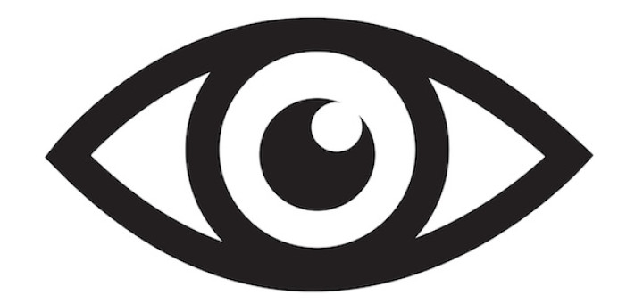 Eye icon illustration sign design style